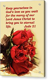 Red Roses Jude 21 Acrylic Print