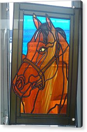 Red Rum Acrylic Print by Robin Jeffcoate