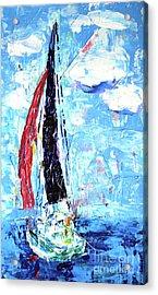 Red Sail Acrylic Print by Lynda Cookson