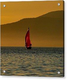 Red Sailboat Acrylic Print