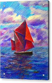 Red Sails Acrylic Print by Anastasia Michaels