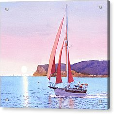 Red Sails In The Sunset Pt Loma Acrylic Print