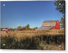 0042 - Red Saltbox Barn Acrylic Print