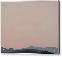 Red San Jacintos Acrylic Print by Stan  Magnan