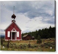 Red Schoolhouse Acrylic Print