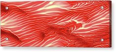 Red Sea Abstract Landscape Panoramic Acrylic Print by Amy Vangsgard