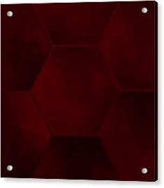 Red Sexagon Acrylic Print by Jouko Mikkola