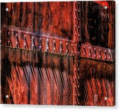 Acrylic Print featuring the photograph Red Shadows by James Barber