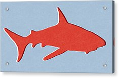 Red Shark Acrylic Print by Linda Woods