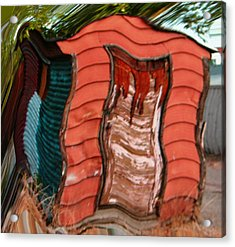 Red Shed Acrylic Print by Lenore Senior
