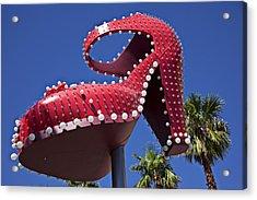 Red Shoe High Heels Acrylic Print by Garry Gay