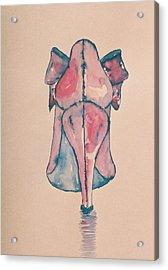 Red Shoe Acrylic Print by Oudi Arroni
