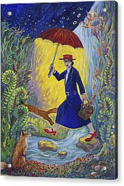 Red Shoes Mary Poppins Acrylic Print