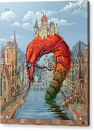 Red Shrimp Acrylic Print