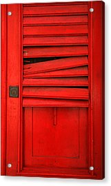 Red Shutter Acrylic Print by Timothy Johnson