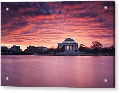 Acrylic Print featuring the photograph Red Skies At Dawn by Edward Kreis