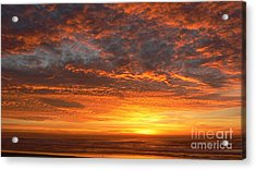 Acrylic Print featuring the photograph Red Skies At Night by Larry Keahey