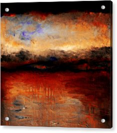 Red Skies At Night Acrylic Print by Michelle Calkins