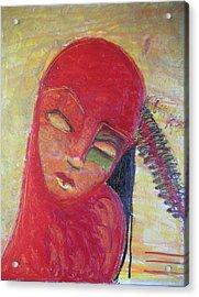 Red Skin Acrylic Print by Erika Brown