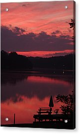 Red Sky At Morning---3 Acrylic Print by Rich Caperton