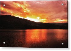 Red Sky At Night Acrylic Print by Martin Newman