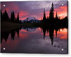 Red Sky At Night Acrylic Print by Mike  Dawson