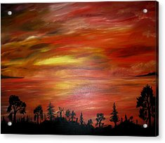 Red Sky Delight Acrylic Print by Michael Schedgick