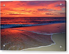 Red Sky In Morning Acrylic Print by Dianne Cowen