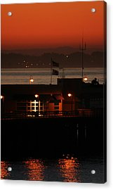 Red Sky In The Morn Acrylic Print by Holly Ethan