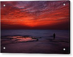 Red Sky Acrylic Print by Itay Gal
