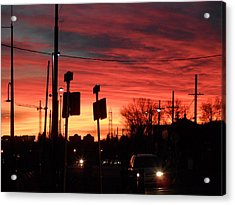 Red Sky Morning Acrylic Print