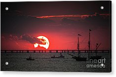Red Sky Acrylic Print by Scott and Dixie Wiley