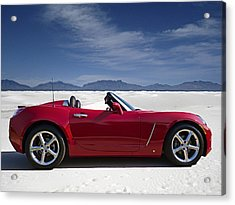 Red Sky White Sands Acrylic Print by Douglas Pittman