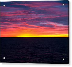 Red Skys In The Morning Acrylic Print by Bill Perry