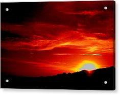 Red Skys Tonight Acrylic Print by Douglas Kriezel
