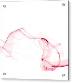 Red Smoke Acrylic Print by Scott Norris