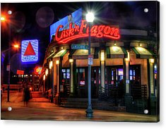Red Sox Art - Cask N Flagon - Citgo Sign Acrylic Print by Joann Vitali