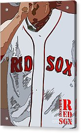 Red Sox Baseball Team White And Red Acrylic Print by Pablo Franchi