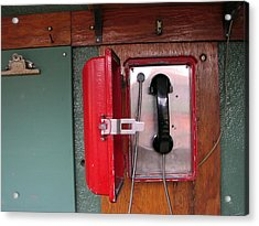 Red Sox Dugout Phone Acrylic Print