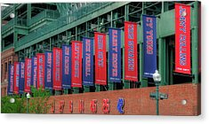 Red Sox Hall Of Fame Banners - Fenway Park Acrylic Print