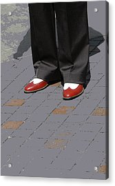 Red Spats Acrylic Print