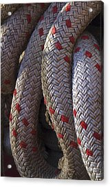 Red Speckled Rope Acrylic Print by Henri Irizarri