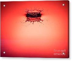 Red Splashdown 2 Acrylic Print