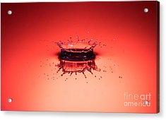 Red Splashdown Acrylic Print