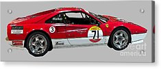 Red Sports Racer Art Acrylic Print