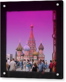 Red Square Peak Acrylic Print by Funkpix Photo Hunter