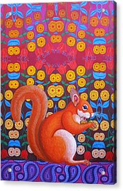 Red Squirrel Acrylic Print by Jane Tattersfield