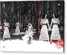 Red Stains - Self Portrait Acrylic Print by Jaeda DeWalt