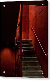 Red Stairs Acrylic Print by Elena Nosyreva