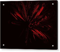 Red Star Acrylic Print by Contemporary Art